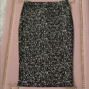 NWT Soprano Black and Gold Pencil Skirt